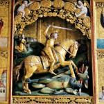Detail oltára v Kostole sv. Juraja
