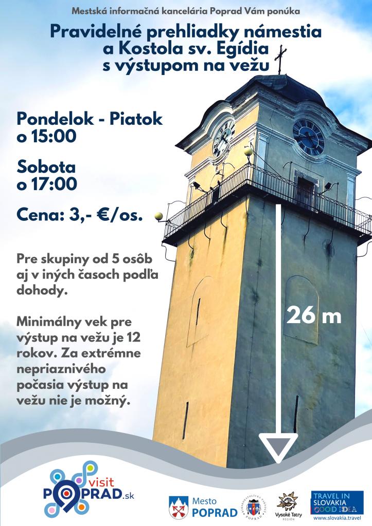 Prehliadky-kostola-sv-Egídia-Poprad-výstup-na-vežu-Vysoké-Tatry