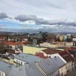 Výhľad z veže smer Aquacity