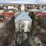 Výhľad z veže smer Evanjelický kostol