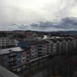 Výhľad z veže smer Forum