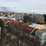 Výhľad z veže smer Stráže