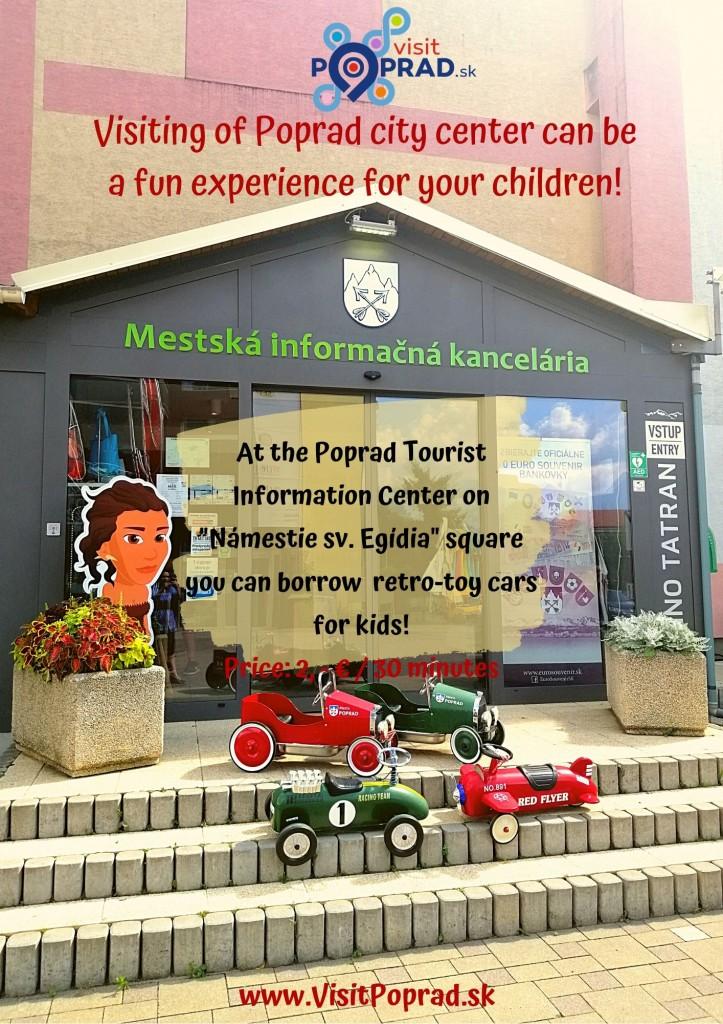 Retro-toy cars Poprad Tourist Information Center Summer 2020
